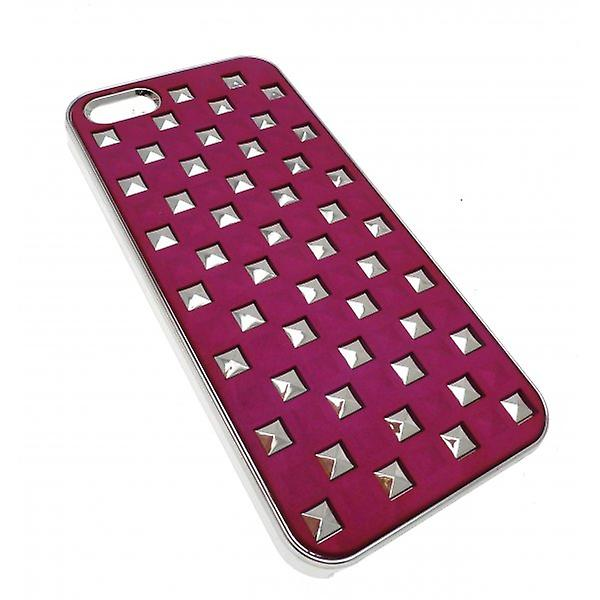 W.A.T Silver And Pink Style Stud  IPhone 5 Phone Hard Cover Phone Case