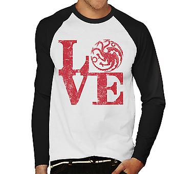 Game Of Thrones Love Targaryen Men's Baseball Long Sleeved T-Shirt