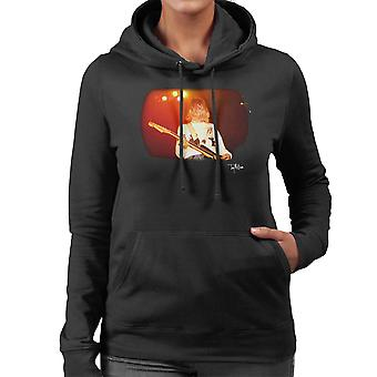 Kurt Cobain Playing Live Guitar Women's Hooded Sweatshirt