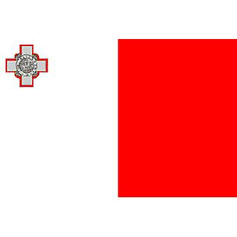 Malta Flag 5ft x 3ft With Eyelets For Hanging