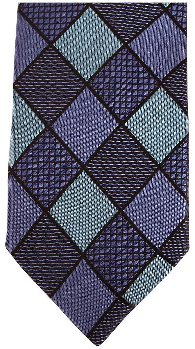 Knightsbridge Neckwear Diamond Silk Skinny Tie - Blue