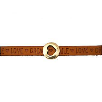 Brown - magnetic lock - bracelet - heart - love - WISHES-