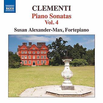 Clementi, M. / Alexander-Max, Susan - Muzio Clementi: Piano Sonaten 4 [CD] USA import