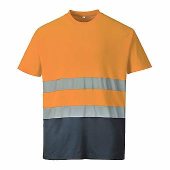 Portwest - Two Tone Cotton Comfort Short Sleeve Crew Neck Reflective T-shirt