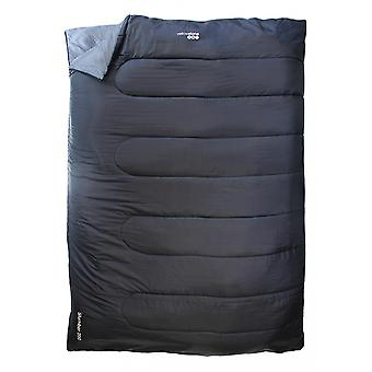 Yellowstone Double Rectangular Sleeping Bag Black 1 season