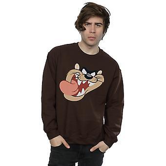 Looney Tunes Men's Tasmanian Devil Face Sweatshirt