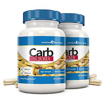 Carb Blocker with White Kidney Bean and Vitamin C - 120 Capsules - Carb Blocker - Evolution Slimming