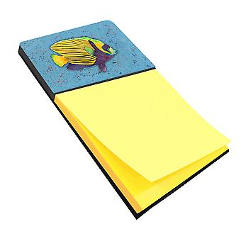 Tropical Fish on Blue Refiillable Sticky Note Holder or Postit Note Dispenser