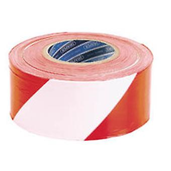 Draper Tp-Bar 75Mm X 500M Red And White Barrier Tape Roll