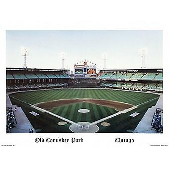 Old Comiskey Park Poster Print by Ira Rosen (24 x 18)