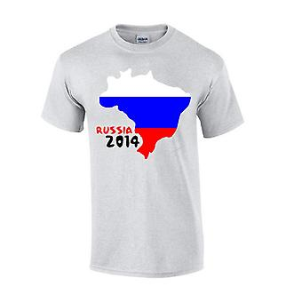 Russia 2014 Country Flag t-shirt (grigio)
