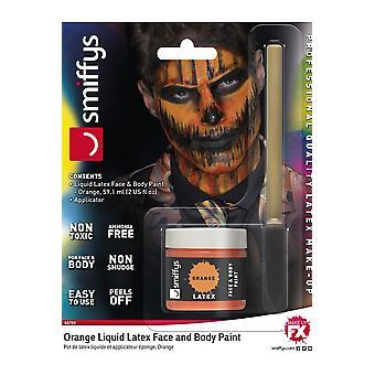 Make up and eyelashes  Latex professional makeup Orange