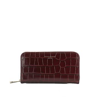 Aspinal of London ladies 039004818250000 Bordeaux red / pink leather wallets