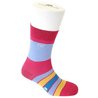 Tyler and Tyler Kaleidoscope Socks - Pink/Orange/Purple