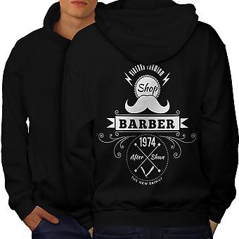 Barber Shop hommes BlackHoodie dos | Wellcoda
