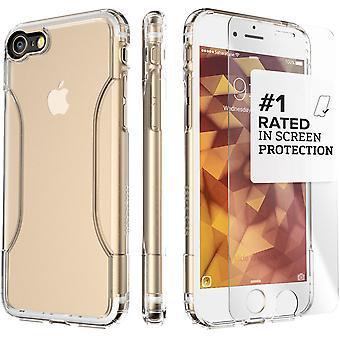 SaharaCase iPhone 8 y 7 caso de Crystal Clear, clásico paquete Kit de protección con vidrio templado de ZeroDamage®