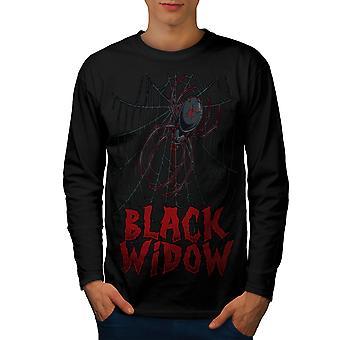 Triste Spider Men BlackLong Sleeve t-shirt nera | Wellcoda