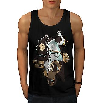 Play Nice Skate Fashion Men BlackTank Top | Wellcoda