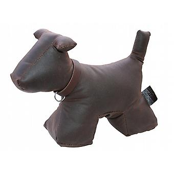 Wax Cotton Dog Doorstop