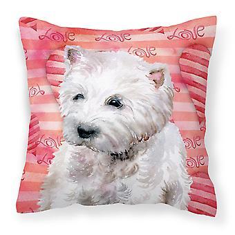 Каролинских сокровища BB9788PW1818 Westie любовь ткани декоративные подушки