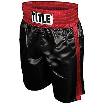 Title Professional Boxing Trunks - Black/Red