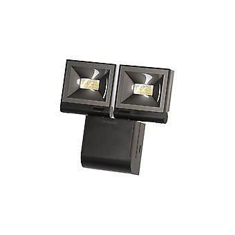 Timeguard Compact LED Energy Saving Floodlight, 20W LED, Black