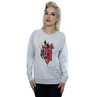 Marvel Women's Deadpool Lady Deadpool Sweatshirt