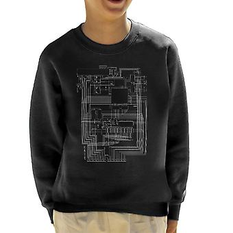 Apple I Computer Schematic Kid's Sweatshirt