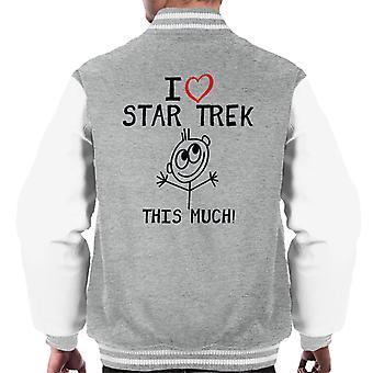 I Heart Star Trek This Much Men's Varsity Jacket