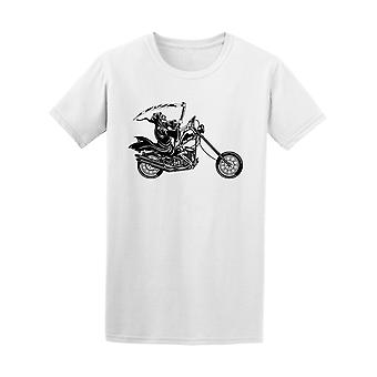 Grim Reaper Riding Motorcycle Tee Men's -Image by Shutterstock