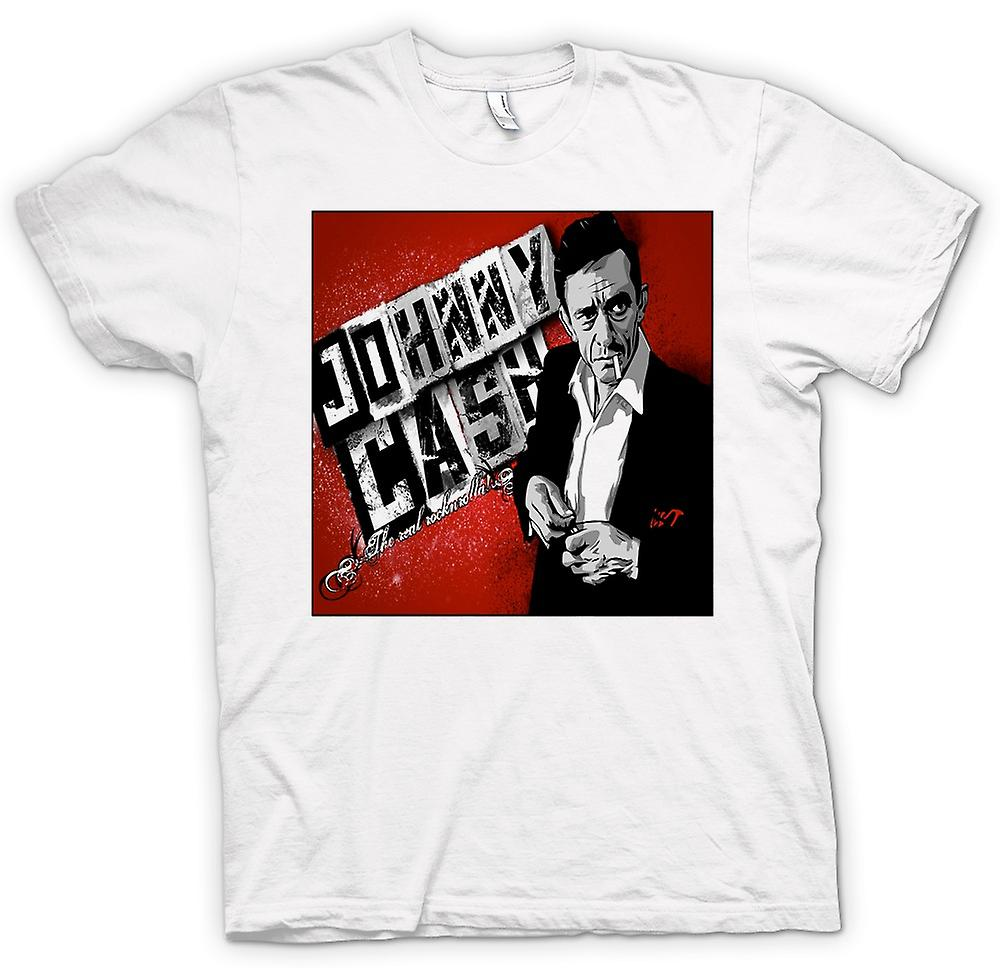 Womens T-shirt - Johnny Cash - Real Rock n Roll