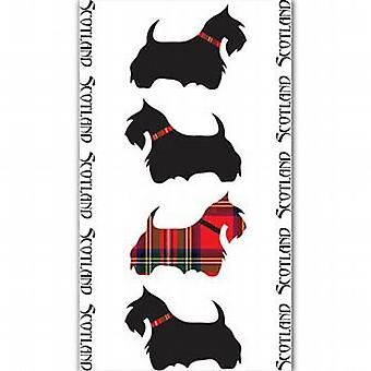 Scottie Dogs Tea Towel