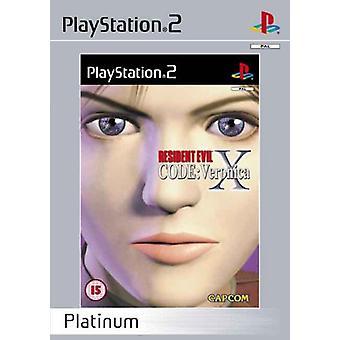 Resident Evil Code Veronica X - Platinum (PS2)