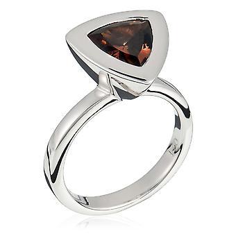 Orphelia plata 925 anillo triángulo Champagne circonio ZR-3653
