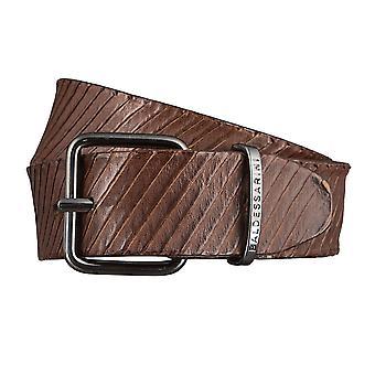 BALDESSARINI belts men's belts leather belt dark brown 2979