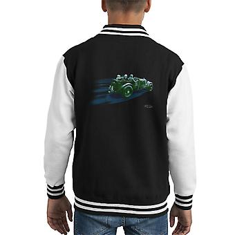 Vintage Bentley At Le Mans Race Streaks Kid's Varsity Jacket
