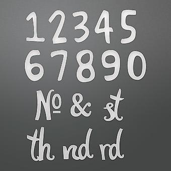 Couture Creations Alpha-Numeric Die-Whimsical Numbers, Number Size:.39