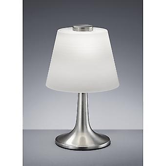 Trio belysning Monti Modern Nickel Matt metall bordslampa