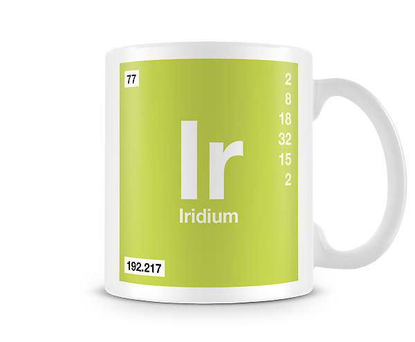 Element Symbol 077 Ir - Iridium Printed Mug