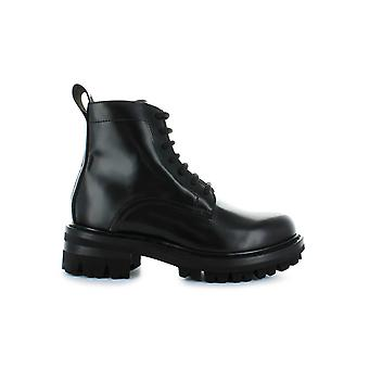 DSQUARED2 LADY BLACK LEATHER COMBAT BOOT