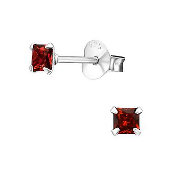Square 3mm - 925 Sterling Silver Classic Ear Studs