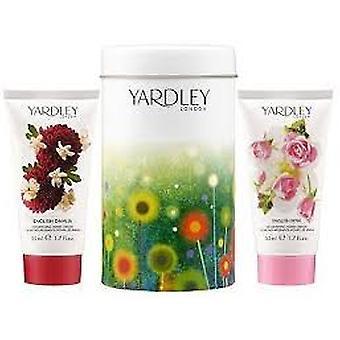 Yardley London Gavesæt 50ml dansk Dahlia Nourishing Hand Cream + 50ml engelsk Rose nærende håndcreme