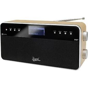 Dual IR 6S Internet Table top radio AUX, DAB+, Internet radio Spotify Wood, Black