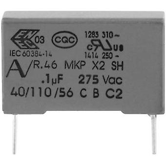 Kemet R46KI310000M1M+ 1 pc(s) MKP suppression capacitor Radial lead 100 nF 275 V 20 % 15 mm (L x W x H) 18 x 5 x 11