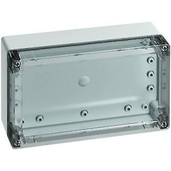Build-in casing 202 x 122 x 75 Acrylonitrile butadiene styrene Light grey (RA
