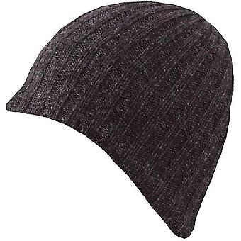 Dents Lambswool Blend Knitted Beanie - Charcoal
