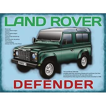Land Rover Defender Metal Sign 200Mm X 150Mm