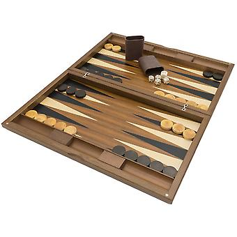 The Dal Negro Oxford Deluxe Backgammon Set