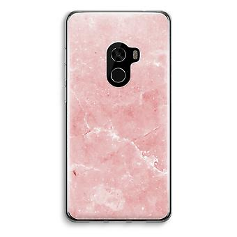 Xiaomi Mi Mix 2 Transparent Case (Soft) - Pink Marble