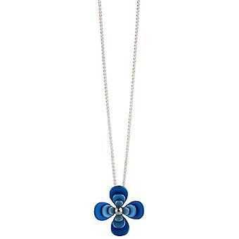 Ti2 Titan Triple fyra kronblad blomma hänge - blå